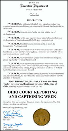 Resolution Court Reporting And Captioning Week 2017smaller